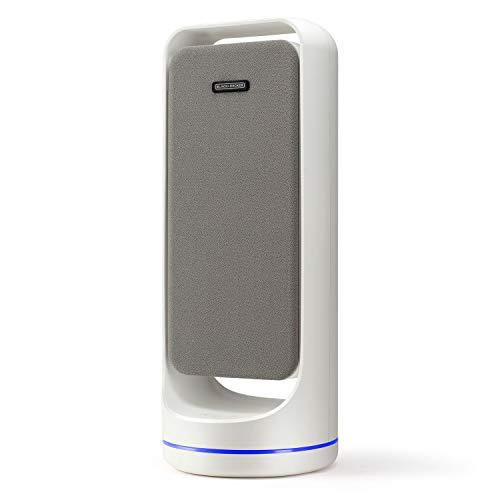 Black+Decker BXAP60E Purificador de aire ultrasilencioso Doble sistema de filtraje con indicador cambio de filtro Modo noche
