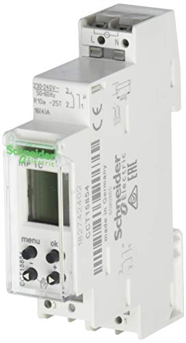 Schneider Electric CCT15854 Acti 9 IHP 1C Interruptor Horario Digital, 24 Horas, 7 Días