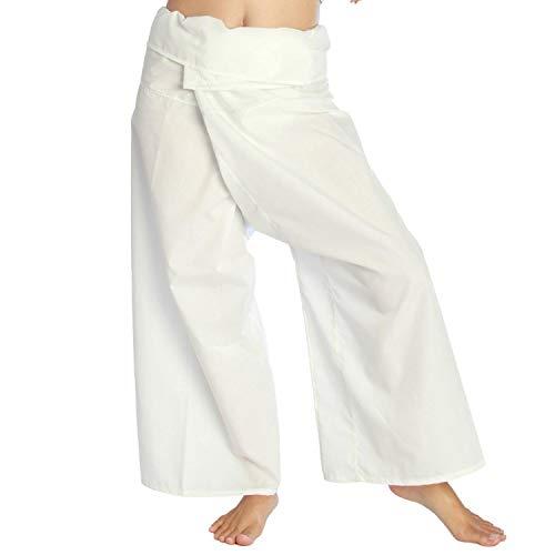Siam Secrets Pantalones de pescador tailandés, unisex, ligeros, para yoga