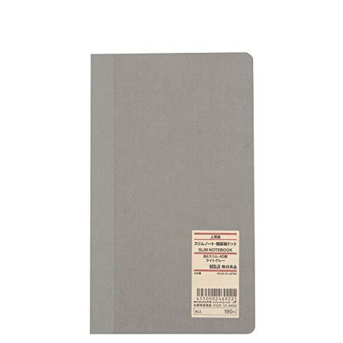 MUJI Notizbuch aus hochwertigem Papier, dünn, liniert, vertikale Punkte, B6 Slim