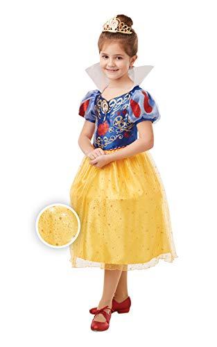 Rubies Disfraz oficial de princesa Disney Blancanieves con purpurina y brillo para niñas