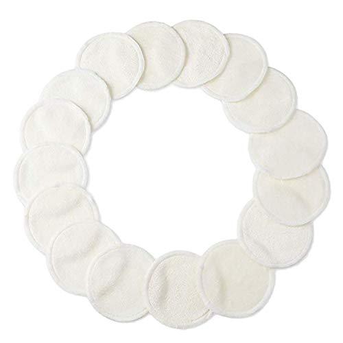 Oyfel Tampons Démaquillants fibre en Bambou 20 Pcs Blanc, Disques Coton Demaquillant Lavable et réutilisable Avec Sac, Tampons Nettoyage Lavable Du Visage