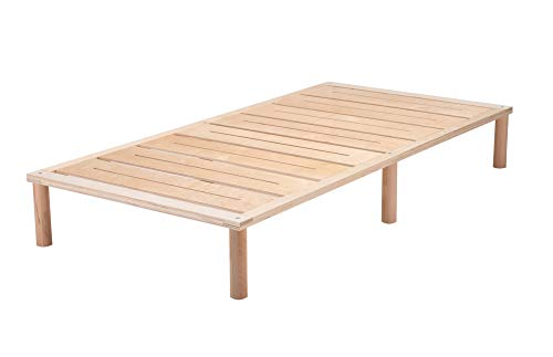 Gigapur G1 29692 Bett | Bettgestell mit Lattenrost | Birke Natur Schicht-Holz | belastbar bis 195 kg je Element | 100 x 200 cm