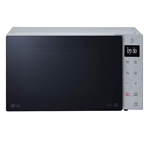 LG MH7235GPSS - Horno microondas Smart Inverter con grill de cuarzo, 32 litros, 1350 W, programas automáticos, niveles de potencia ajustables, plato microondas Crispy incluido, color plateado