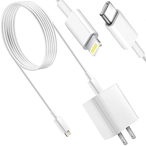 iPhone 13 12 Schnellladegerät, [Apple MFi zertifiziert] Kit 20W PD USB C Wandladeadapter mit 1,8 m C auf Lightning-Kabel, kompatibel mit iPhone 13 12/12 Mini/12 Pro Max/11 Pro Max/XS Max/XS/XR/X/8Plus, iPad