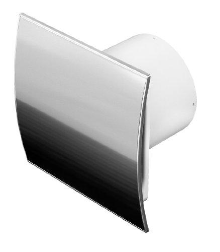 Roestvrijstalen badkamerventilator Ø 100 mm met terugslagklep WEI en vochtsensor / hygrostaat met timer / naloopregeling ventilator ventilator plafondventilator front wandventilator badventilator ventilator ventilator inbouwventilator badkamer keuken stil 10 cm