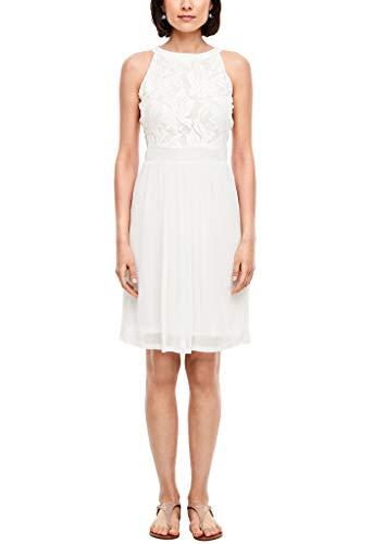 s.Oliver Damen Kleid kurz Offwhite 46