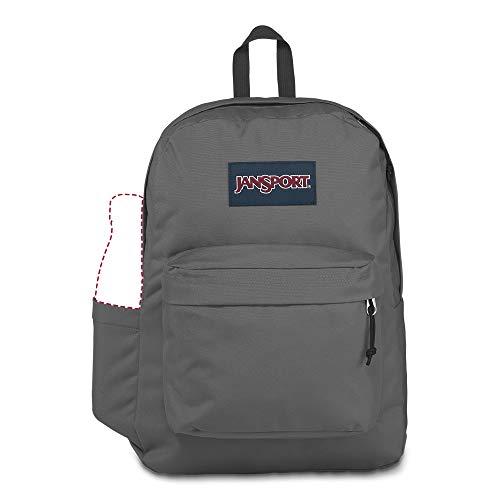 JanSport SuperBreak Backpack - Lightweight School Pack, Deep Grey