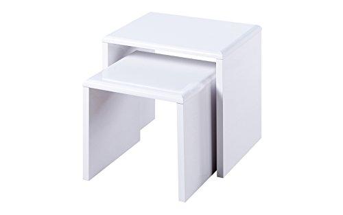 Julian Bowen Manhattan Nest of Tables, White