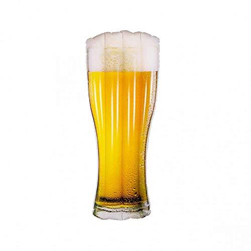Bavaria-Home-Style-Collection Aufblasbare Luftmatratze Bier Bierflasche - Länge 1,80 M. - witzige lustige Badeartikel -Garten Pool Deko