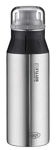 alfi Trinkflasche Edelstahl 600ml - elementBottle Pure - auslaufsicher, spülmaschinenfest, BPA-Free,  5357.102.060