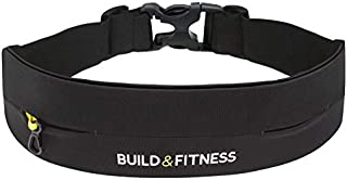 Build & Fitness Running Belt, Adjustable Waist,...