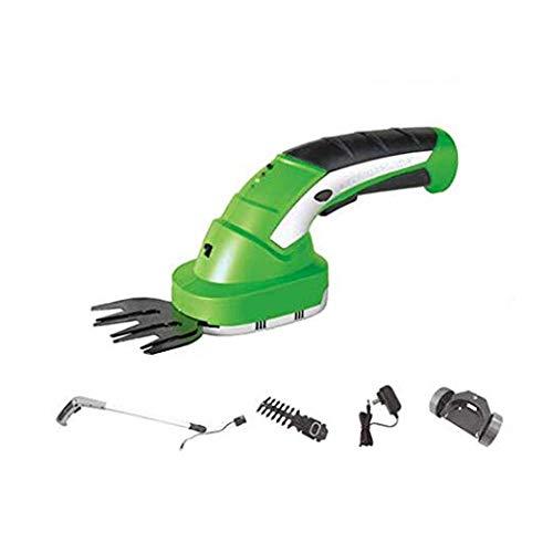 Hand-held trimmer, snoerloze heggenschaar, 7.2V 2-in-1 draadloze gras scharen, wisselklingen, telescopische handgrepen en klein wiel attachments,B