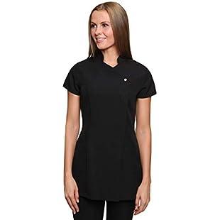 Women's Freya Beauty Tunic Uniform Black 10 UK:Masterpola
