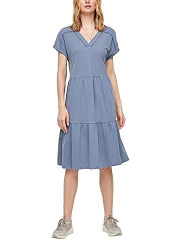 s.Oliver Damen Piqué-Stufenkleid mit V-Ausschnitt powder blue 46