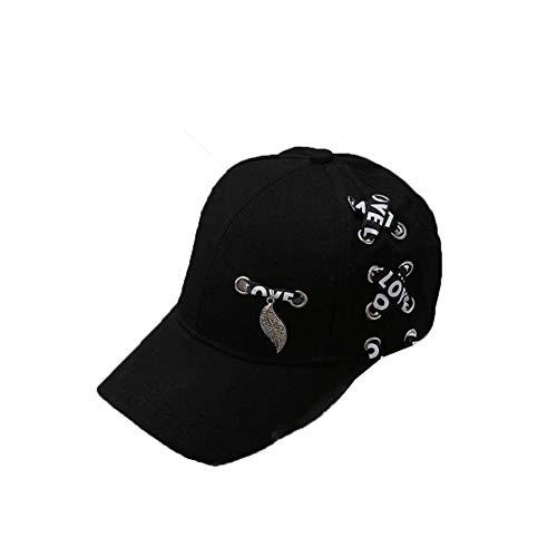 Liapianyun 2020 Printemps Été Automne Casquette de Baseball Hommes et Femmes Streamer Bonnet Loisirs Ombre Chapeau pour Fête Date Mariage Danse Noir