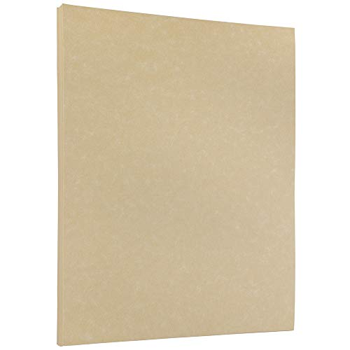 JAM PAPER Parchment 24lb Paper - 8.5 x 11 - Natural Recycled - 50 Sheets/Pack