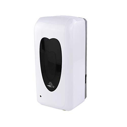 MCalle Dispensador de desinfección con sensor de infrarrojos, solo desinfectante líquido, máx. 1000 ml, funciona con pilas USB