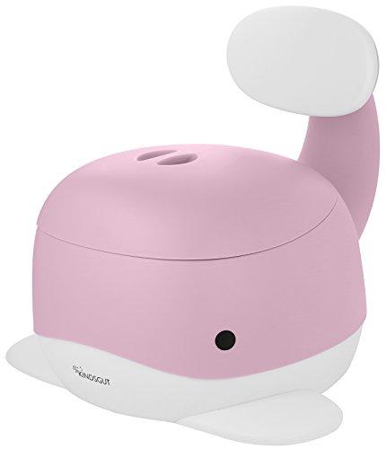 Kindsgut Kinder-Töpfchen, Babytopf WC/Klo, kinderfreundliches Wal-Design und dezente Farben, Toiletten-Training, Zartrosa