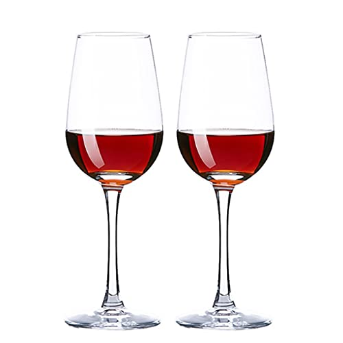 Kelche Rotweinglas Glas Becher 330ml 2 Stück Weinglas Haushalt Gepaart Rotweinglas Weißweinglas Ausländisches Weinglas Weingut (Color : Clear, Size : 330ML)
