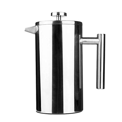 BBT-shop Stainless Steel Coffee Pot, French Press Coffee Maker, Mocha Espresso Latte Percolator Stove Top Coffee Maker Pot Espresso Machines Pot Coffee Maker Parts Accessories (1000ml)