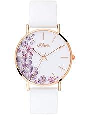s.Oliver Damen Analog Quarz Armbanduhr mit Silikonarmband