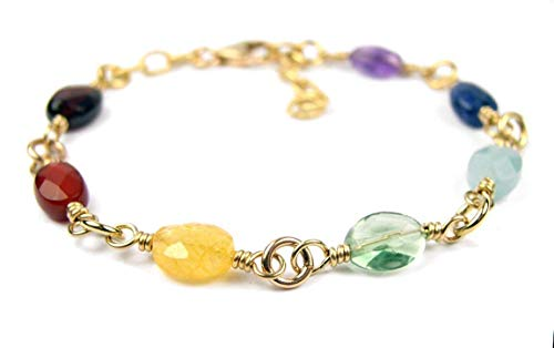 Handmade 7 Stone Chakra Bracelet by Damali