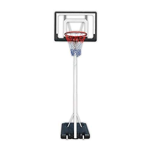 FQCD Exterior del aro de Baloncesto con el Sistema de Baloncesto Tablero de Baloncesto Ajustable Soporte del Tubo cuadrangular Reforzada Interior y Exterior de PVC