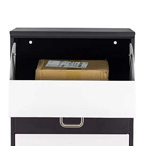 Briefkasten Groß Diebstahlsicherung Veranda Briefkasten Package Drop, Verzinktes Metall Briefkasten abschließen für Outside Home Curbside, Passend für mittlere Pakete und kleine Pakete
