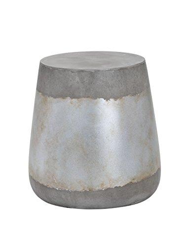 Sunpan Modern Aries Side Table - Concrete - Silver -