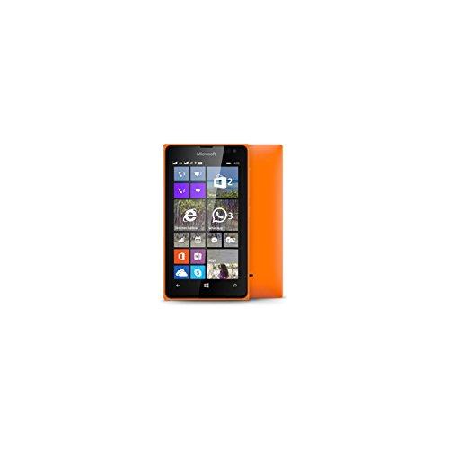 Nokia Lumia 435 Dual SIM 4GB: Arancione-Smartphone Dual SIM, SO Windows, MicroSIM/GSM/EDGE/WCDMA, Micro-USB