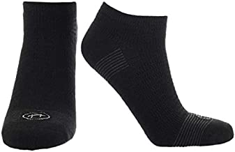 Doctor's Choice Men's Diabetic & Neuropathy Socks, No Show, Non-Binding with Aloe, Antimicrobial, Ventilation, and Seamless Toe, 2-Pairs, Black, Mens Large: Shoe Size 8-12