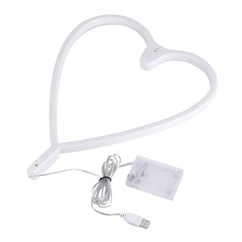 Herzform Neonlicht Cartoon Zeichen Nachtlicht Energiesparende LED Lampe Baby Puppen Dekoration Schlafzimmer Schreibtisch Tischlampe für...