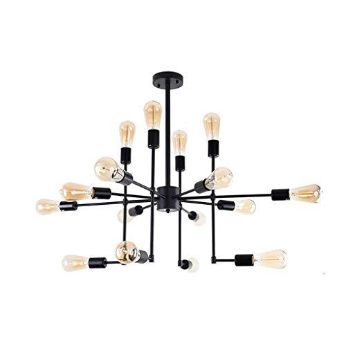 Zmsdt Américain Rétro Style Industriel en Fer Forgé Multi-têtes LED Lustre Design Créatif Salon Salle À Manger Étude Bar Lustre