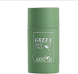 Green Tea Purifying Stick Mask for Face Facial Skin Care Product Green Tea Clay Moisturizer Oil Control Face Mask Cleansing Blackhead Remover Mask for Woman Man