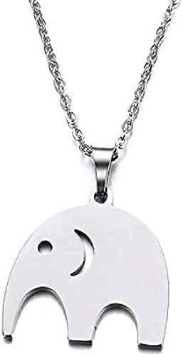 CAISHENY Collar para Mujer, Hombre, Collar, Acero Inoxidable, Collar para Mujer, Hombre, Amante, Elefante, Colgante, Collar, joyería de Compromiso, Collar, Colgante, Cadena para Mujeres, Hombres