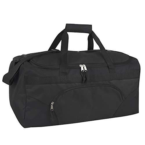 Trail maker 40 Liter, 22 Inch Duffle Bags for Women, Men, Travel Heavy Duty (Black)