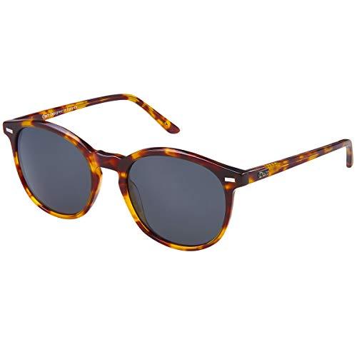 DUCO Retro Polarisierte Damen Sonnenbrille 100% UV400 Schutz Outdoor Brille für Fahren Golf Angeln, Acetat Rahmen 1230 (Tortoise)