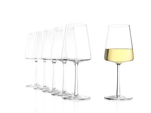Stölzle Lausitz Weißweinkelche Power 400 ml I Weißweingläser 6er Set I Moderne Weingläser spülmaschinenfest I Weißwein Kelche Set bruchsicher I wie mundgeblasen I höchste Qualität