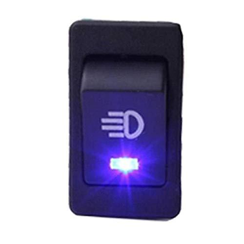 Interruptor Rocker, Impermeable enclavamiento Rocker Toggle, Amarillo Verde Azul 4Pin 2 Posicione, interruptor de 12V 35A LED Car Auto luz de niebla del eje de balancín de Toggle ( Color : Blue )
