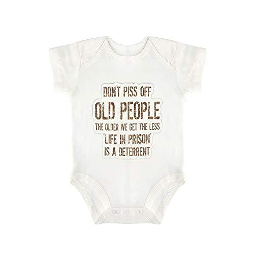 DKISEE Dont Piss Off Old People Baby-Body für Jungen und Mädchen
