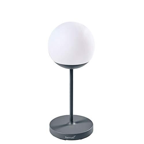 Fermob Unisex– Erwachsene Mooon Lampe, Gewittergrau, 63 x 25 cm