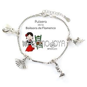 Eres lo mas mujer Pulseras Deportes, Aficiones, Fiestas, Plata (Bailaora Flamenco)