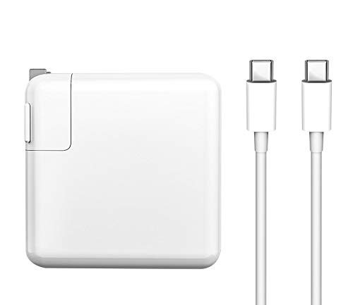 Replacement MacBook Pro Charger,61W USB-C to USB-C Ac Power Adapter Charger Compatible with Mac Book Pro 12 Inch 13 Inch