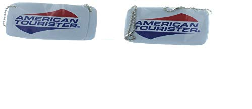 American Tourister Luggage Tags Set of 4 Chain ID Logo