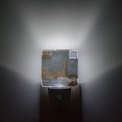 Graffiti Restoring Ancient Ways Sensor automático Paquete de 2 luces nocturnas que se conectan a la pared Patrón de enrejado marroquí Baño Inodoro Dormitorio Pasillo Decoración brillante Cuadrado Dim