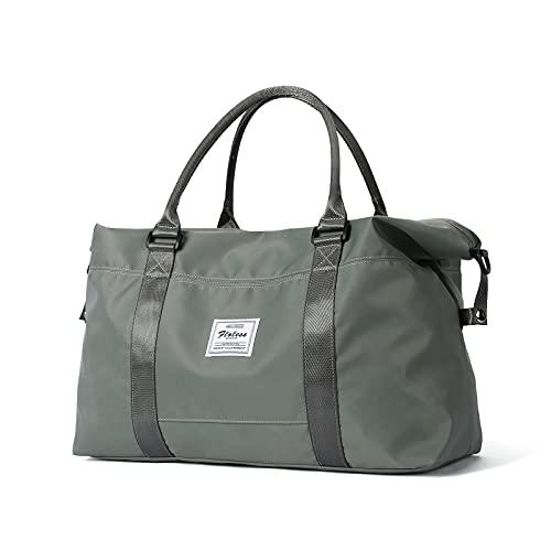 Reisetasche, Sporttasche, Schultertasche, Wochenendtasche, für Damen, D-olivgrün, klein, Klein,