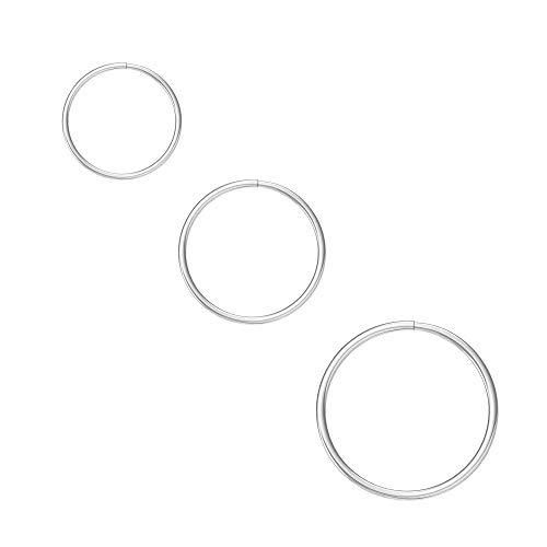 Nose Rings Cartilage Hoop Earrings Body Piercing Adjustable Round...