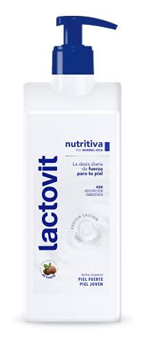 Lactovit - Leche Corporal Nutritiva con Protein Calcium y Manteca de Karité, para Pieles Normales y...