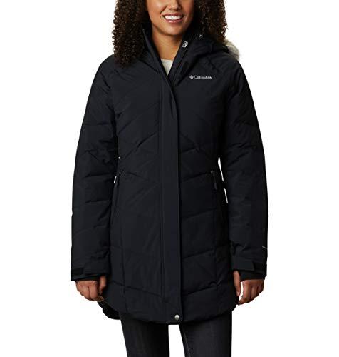 Columbia Women's Lay D Down II Mid Jacket, Waterproof & Breathable, Black Metallic, Large